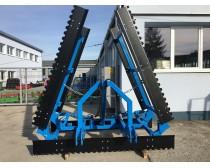 LEKO 6 m függesztett fogazott simító, hidraulikus, 2 soros